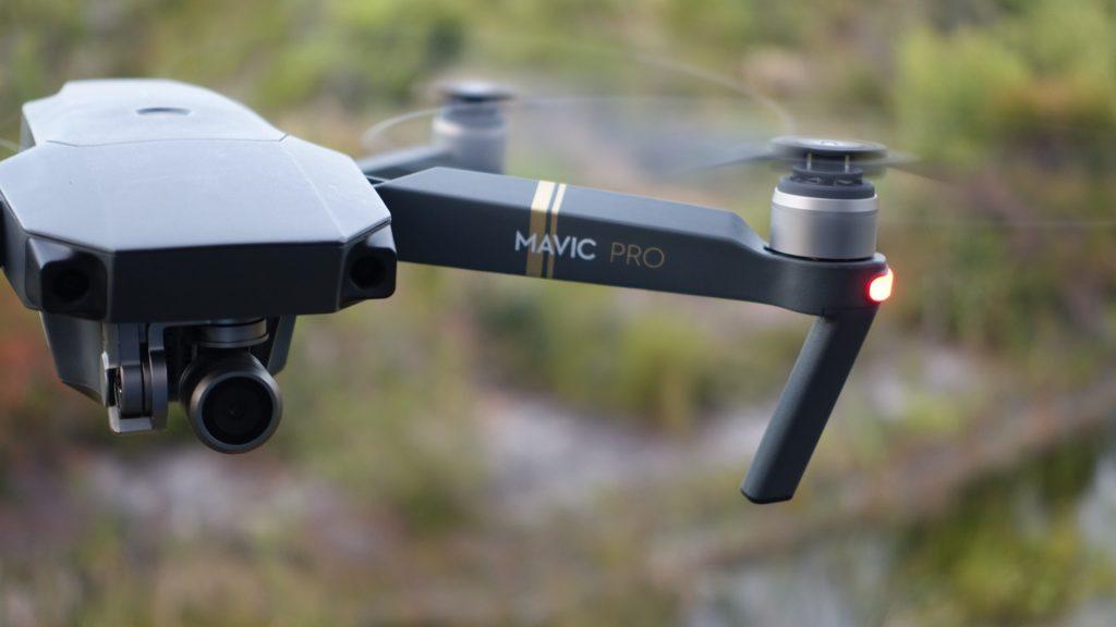 DJI Drone Mavic Pro_particolare del drone in volo