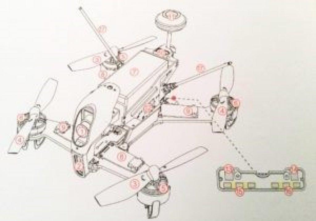WALKERA F210 FPV_scema di progetto