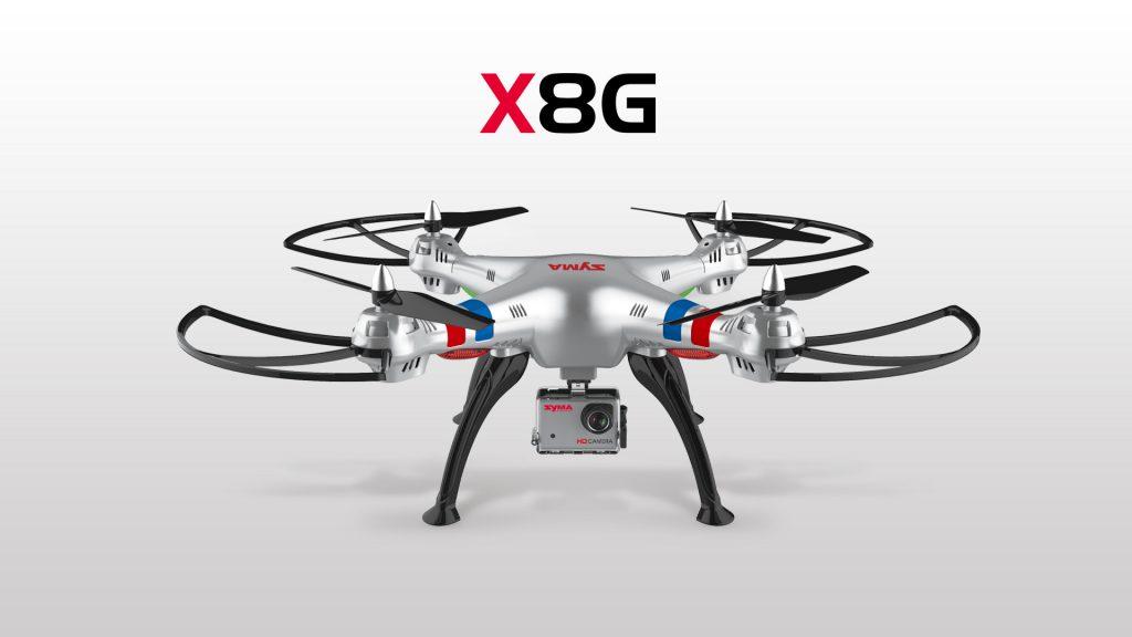 Syma-X8G-Quadcopter_foto del drone frontale